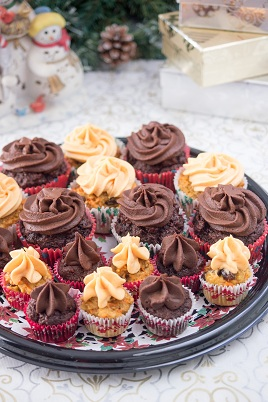 Chocolate and carrot cupcakes